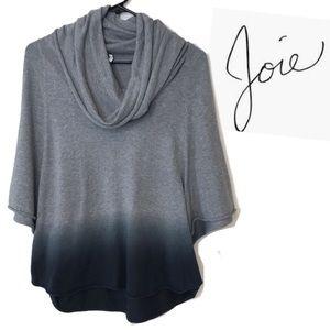 Joie Cowl neck grey blue ombré 100% cotton size XS